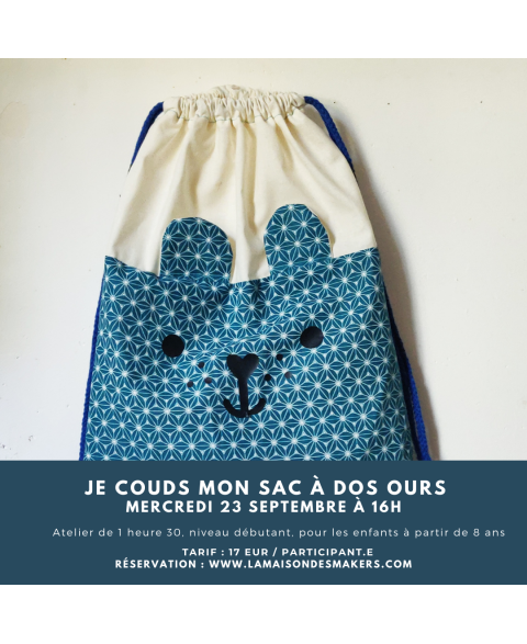 "Je couds mon sac ""Ours"" -..."