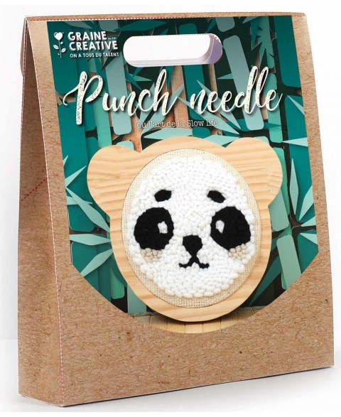 Kit Punch Needle Panda