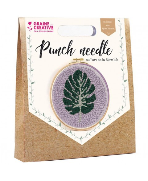 Kit Punch Needle Feuille