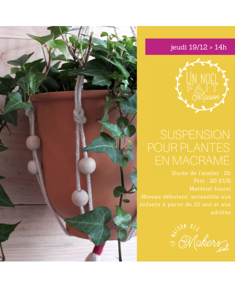 Atelier suspension macramé